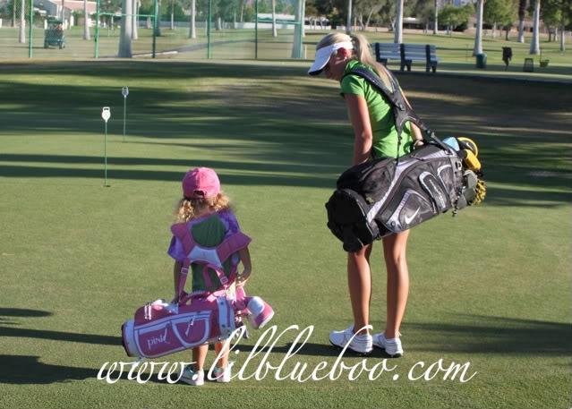 The Original Lil Golf Girl via lilblueboo.com