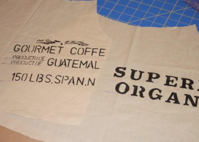 A Coffee Sack Dress stencil front and back via lilblueboo.com