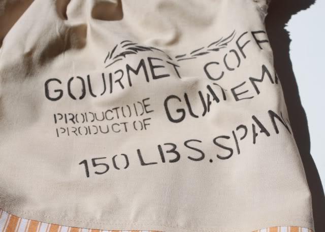A Coffee Sack Dress lettering closeup via lilblueboo.com