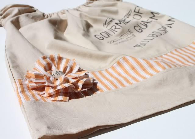 A Coffee Sack Dress finished via lilblueboo.com