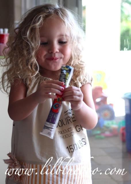 A Coffee Sack Dress frozen GoGurt via lilblueboo.com