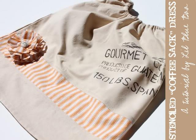 A Coffee Sack Dress via lilblueboo.com