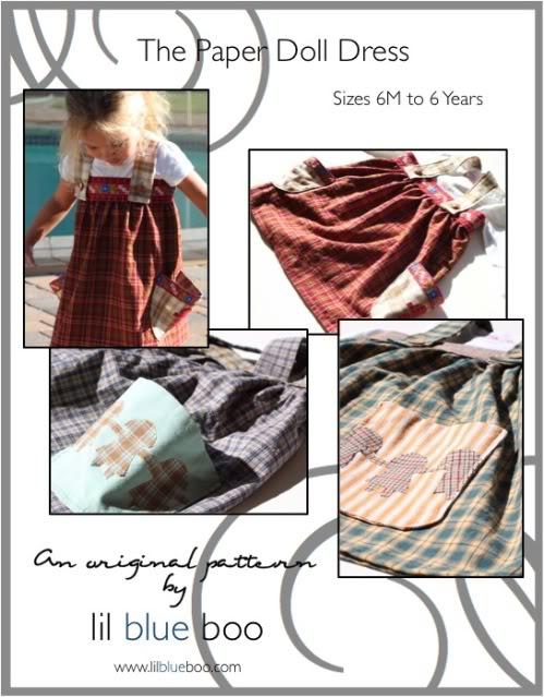 The Paper Doll Dress epattern via lilblueboo.com