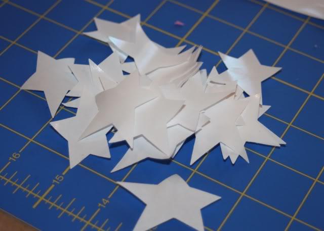 Reverse Freezer Paper Stenciling step 1 via lilblueboo.com