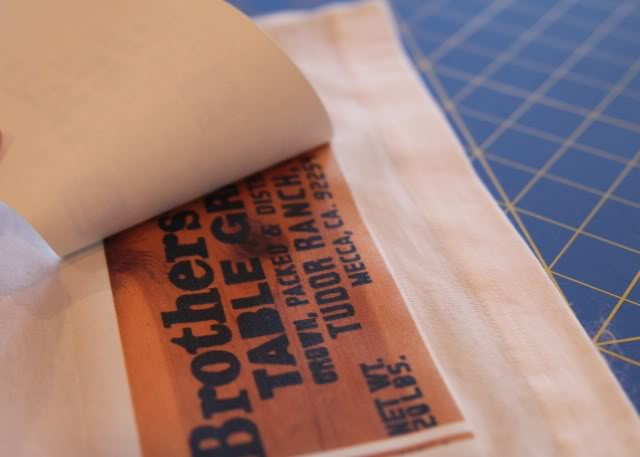 Vintage Harvest Crate Stamp / Label Patches DIY Tutorial step 4 via lilblueboo.com