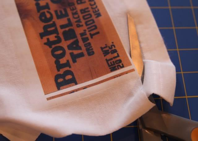 Vintage Harvest Crate Stamp / Label Patches DIY Tutorial step 4 optional via lilblueboo.com