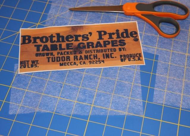 Vintage Harvest Crate Stamp / Label Patches DIY Tutorial step 5 via lilblueboo.com