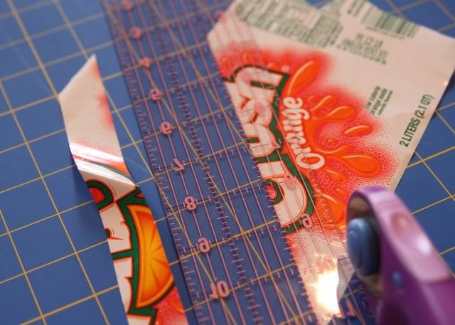 Fused Plastic Patchwork Belt (A Tutorial) step 5 via lilblueboo.com