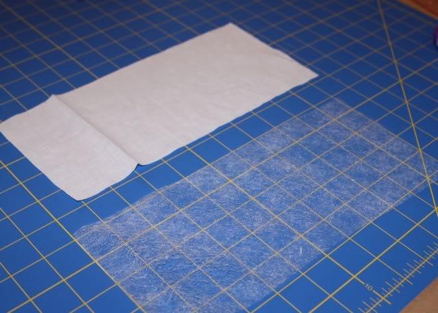 Scrap Ribbon Wallet/Clutch Tutorial step 1 via lilblueboo.com