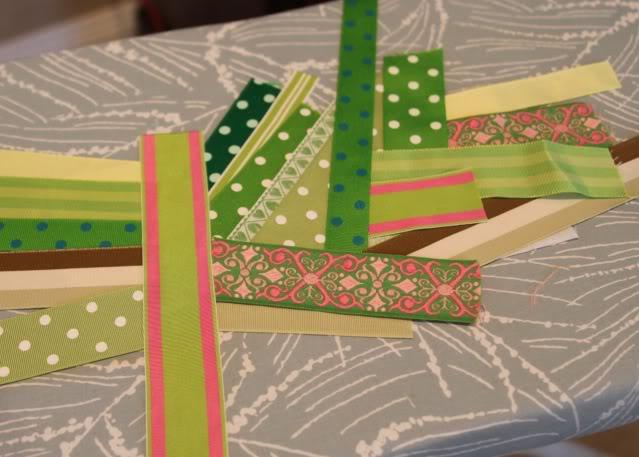 Scrap Ribbon Wallet/Clutch Tutorial step 2 via lilblueboo.com