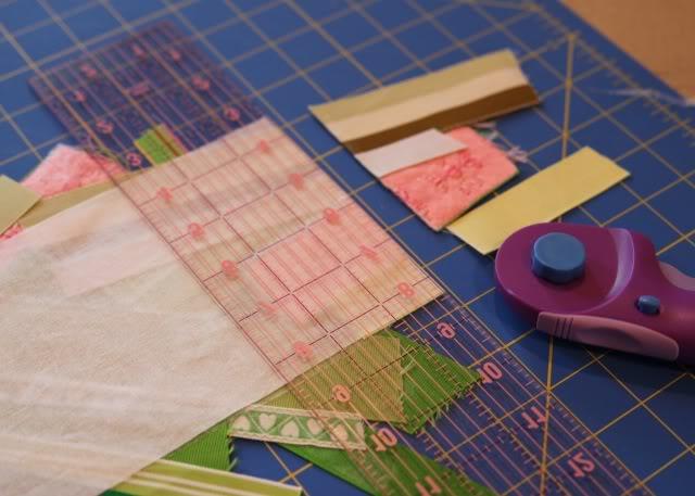 Scrap Ribbon Wallet/Clutch Tutorial step 3 via lilblueboo.com