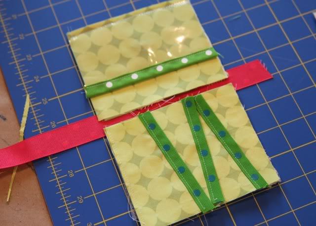 Scrap Ribbon Wallet/Clutch Tutorial step 10a via lilblueboo.com