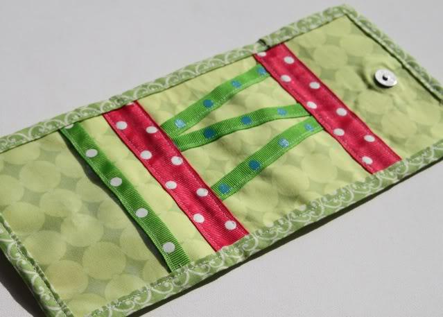 Scrap Ribbon Wallet/Clutch Tutorial step 12a via lilblueboo.com