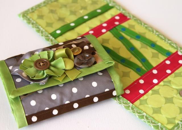 Scrap Ribbon Wallet/Clutch Tutorial 3 via lilblueboo.com