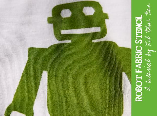 Free DIY Robot Stencil Template Download via lilblueboo.com