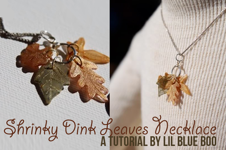 How to make a necklace with Shrinky Dinks! Remember those? DIY Tutorial via lilblueboo.com