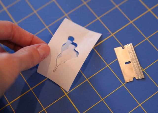 Snowglobe Shirt - Tutorial step 3 via lilblueboo.com