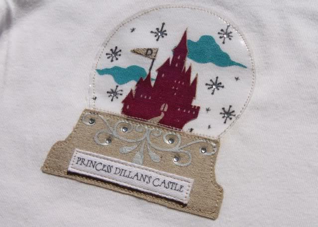Snowglobe Shirt - Tutorial 3 via lilblueboo.com