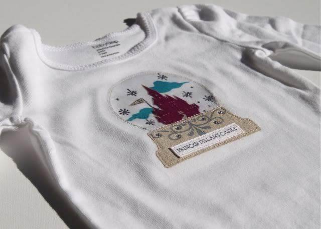 Snowglobe Shirt - Tutorial 2 via lilblueboo.com