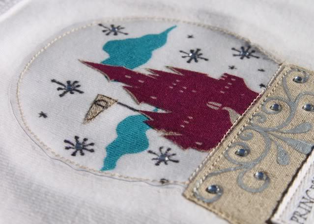Snowglobe Shirt - Tutorial 4 via lilblueboo.com