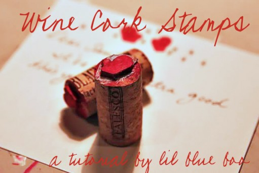 How to make mini stamps from wine corks via lilblueboo.com