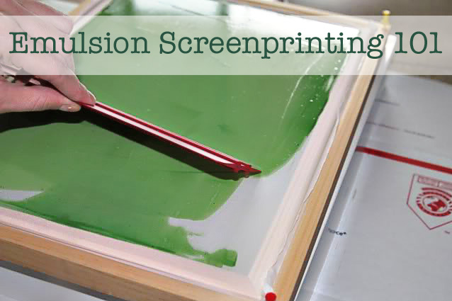 How to screen print 101 with emulsion via lilblueboo.com
