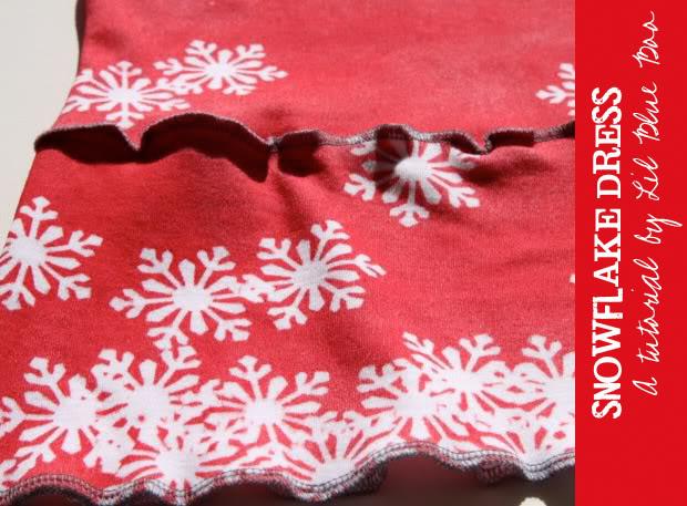 Snowdrift Dress - Tutorial via lilblueboo.com