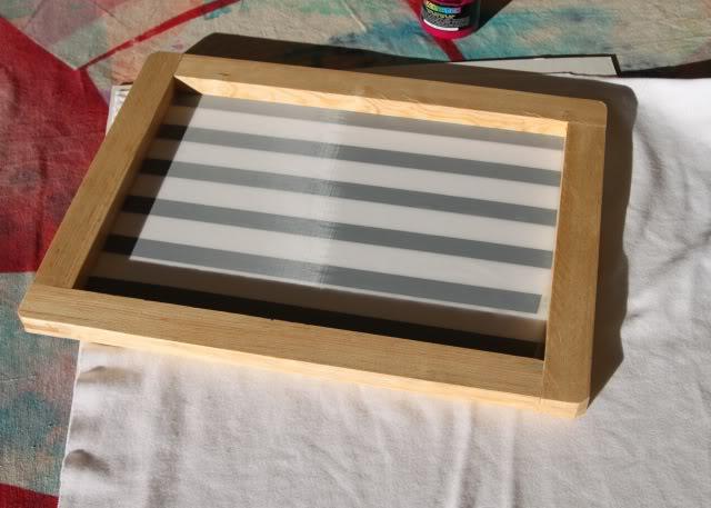 Using Contact Paper to Create Stripes step 2 via lilblueboo.com