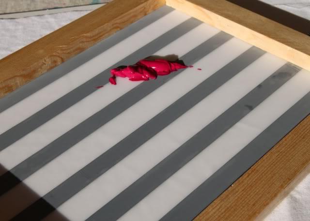 Using Contact Paper to Create Stripes step 3 via lilblueboo.com