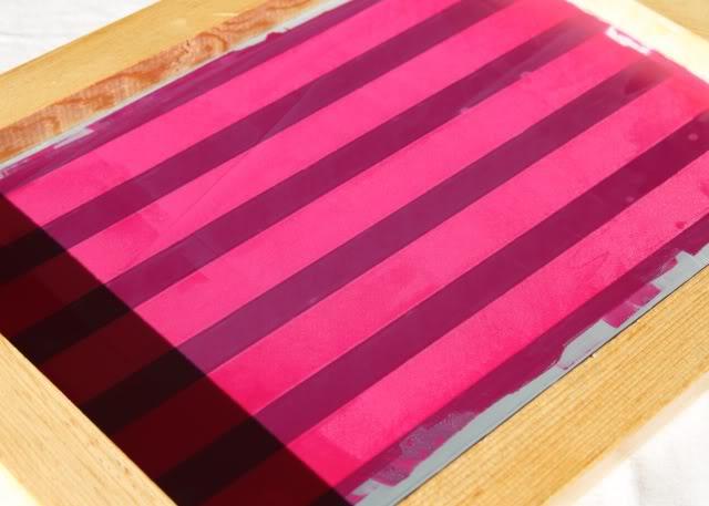 Using Contact Paper to Create Stripes step 3a via lilblueboo.com