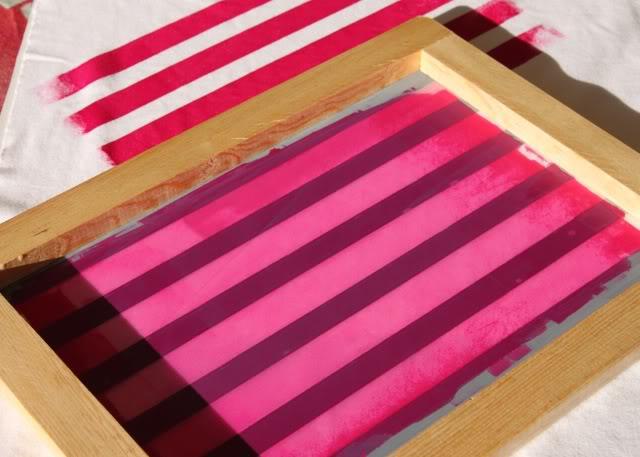 Using Contact Paper to Create Stripes step 4 via lilblueboo.com