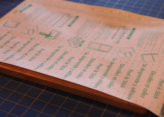 Screenprinting Techniques: Using Contact Paper (Tutorial) step 2 via lilblueboo.com
