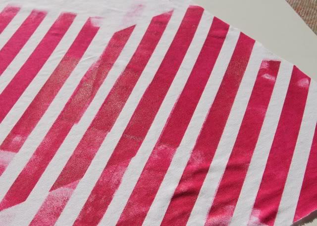 Using Contact Paper to Create Stripes step 4a via lilblueboo.com