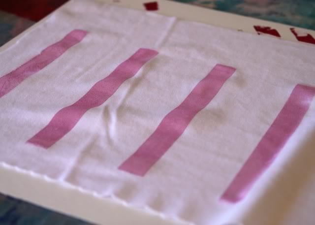 Using Contact Paper to Create a Distressed Plaid Design step 2 via lilblueboo.com