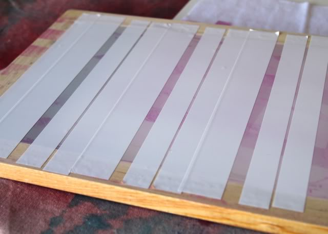 Using Contact Paper to Create a Distressed Plaid Design step 3 via lilblueboo.com