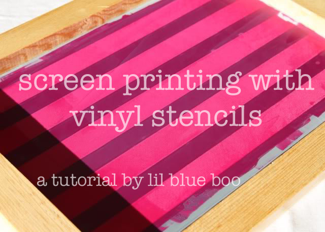 Screenprinting Techniques: Using Contact Paper (Tutorial) via lilblueboo.com