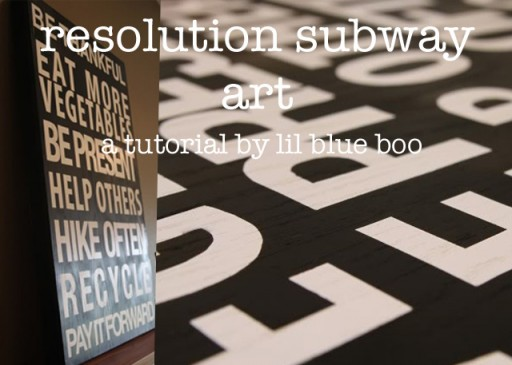 How to make vintage subway sign-inspired art. DIY tutorial via lilblueboo.com