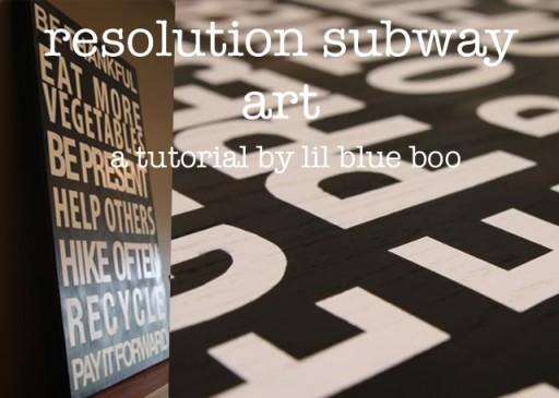 How to make vintage subway sign-inspired art. DIY tutorial via lilblueboo.com