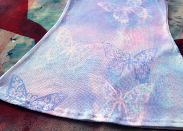 Reverse Stenciled Butterfly Dress tutorial diy via lilblueboo.com