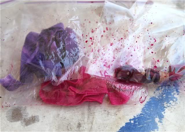 Tie Dye Elastic Accessories Tutorial Process 4 via lilblueboo.com