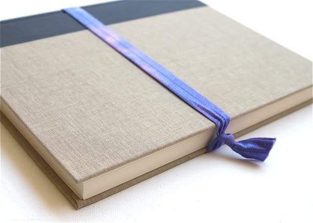 Tie Dye Elastic Accessories Tutorial - use for books too! via lilblueboo.com