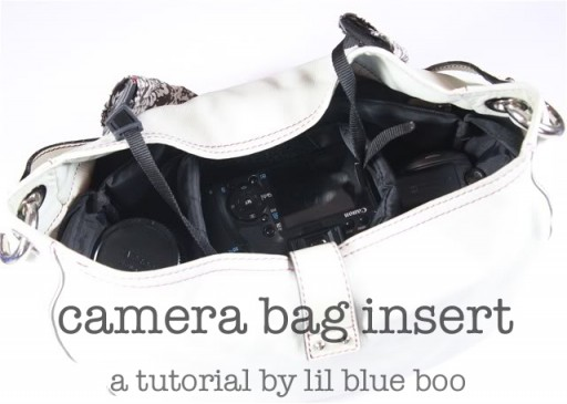 Camera bag insert for purse free tutorial pattern diy via lilblueboo.com