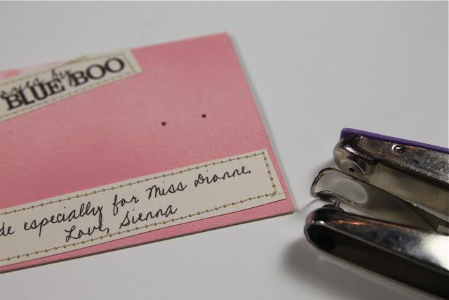 Cabochon Accessories DIY Tutorial Earing Card via lilblueboo.com