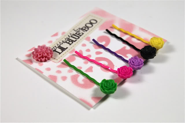 Hair Clip Packaging of Cabochon Accessories DIY Tutorial Process via lilblueboo.com
