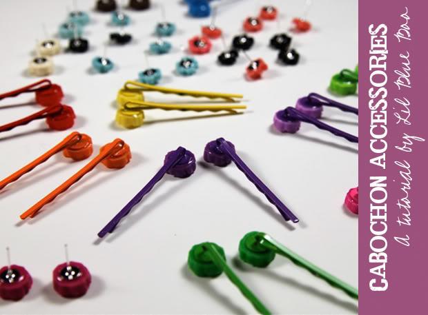 Cabochon Accessories DIY Tutorial via lilblueboo.com