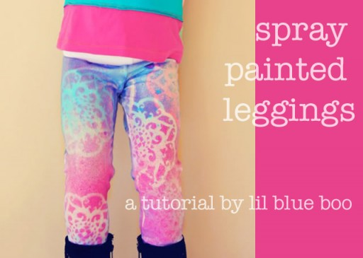 spray painted leggings a tutorial ashley hackshaw lil blue boo. Black Bedroom Furniture Sets. Home Design Ideas
