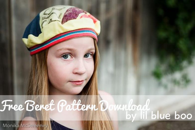 The Blue Beret Pattern Free Download via lilblueboo.com