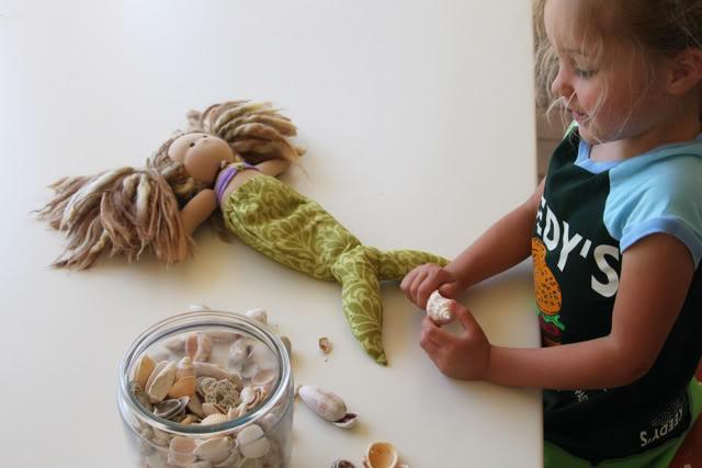 Mermaid tail for doll free diy download via lilblueboo.com