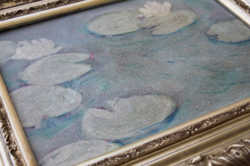 How to Paint a Distressed Painting via lilblueboo.com