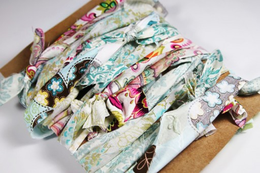 Easy Fabric Garland DIY - wedding